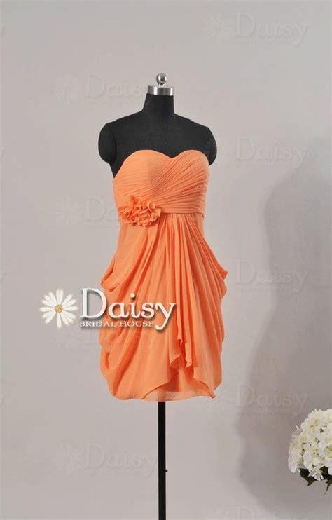 Handmade Bridesmaid Dresses - custom orange bridesmaid dress orange dresses