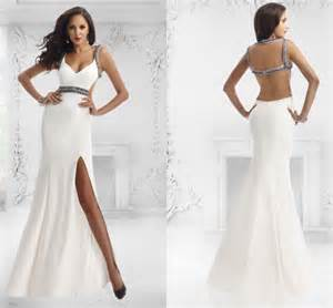 Rock you style with long backless prom dresses designers outfits