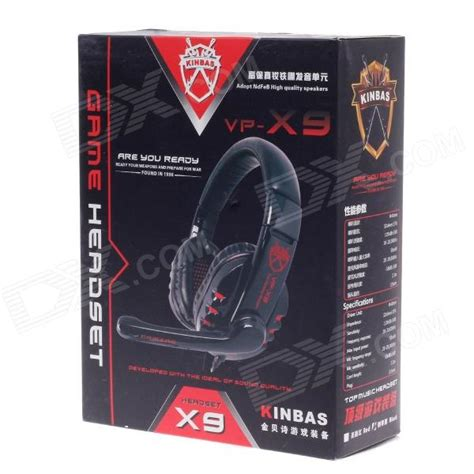 Kinbas High Quality Hifi Gaming Headphone Headset Microphone Vp kinbas vp x9 fashionable gaming headphones w microphone