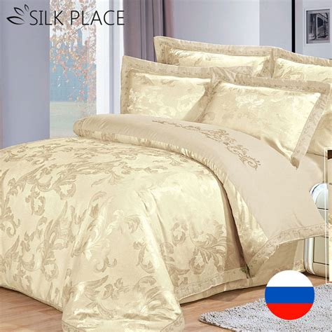 Designer Bed Sets Sale Aliexpress Buy Silk Place Sale Designer Satin Luxury Bedding Set Cotton Jacquard