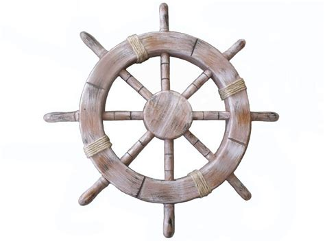 boat steering wheel decor buy rustic seaworn decorative ship wheel 18 inch