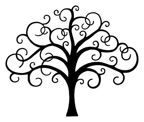 tree drawing simple the tree of drawing clipart best