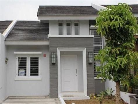 cat rumah minimalis putih abu abu   rumah