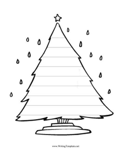 christmas tree template writing search results