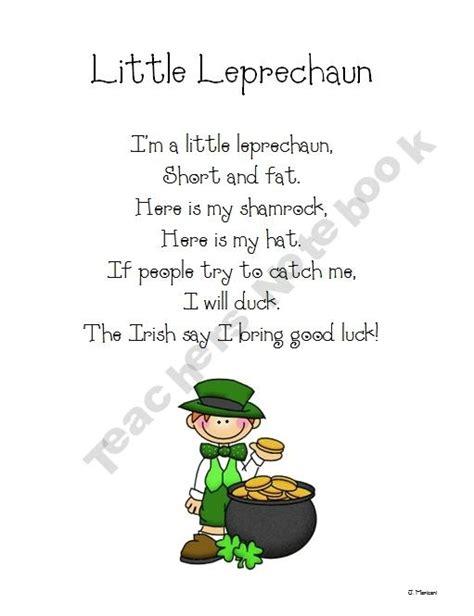 poem from a leprechaun shamrock acrostic poem poem them free leprechaun poem holiday st patrick s day
