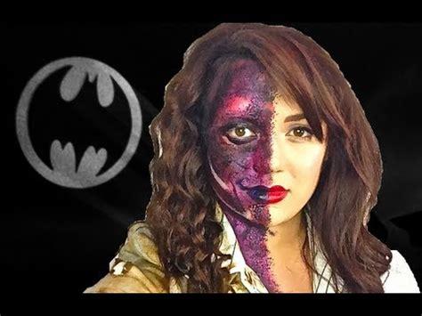 makeup tutorial two face batman two face harvey dent female version youtube