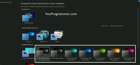 themes black windows 10 how to use dark theme in windows 10 youprogrammer
