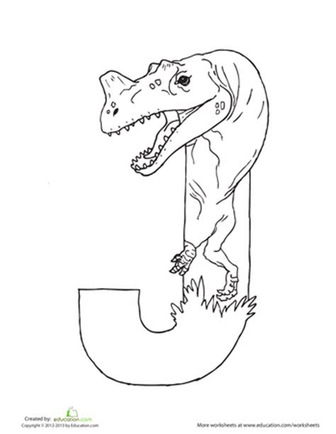 dinosaur alphabet coloring pages dinosaur coloring pages education com