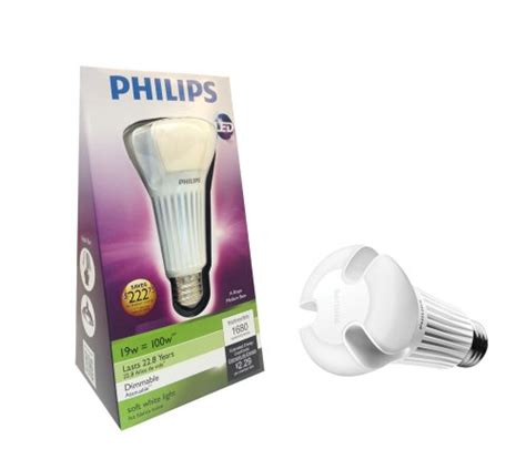 Lu Led Philips 19 Watt philips 432195 19 watt 100 watt ambient led household a21 soft white light bulb dimmable for