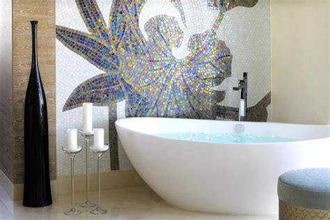 bright mosaic tile designs modern bathroom design trends