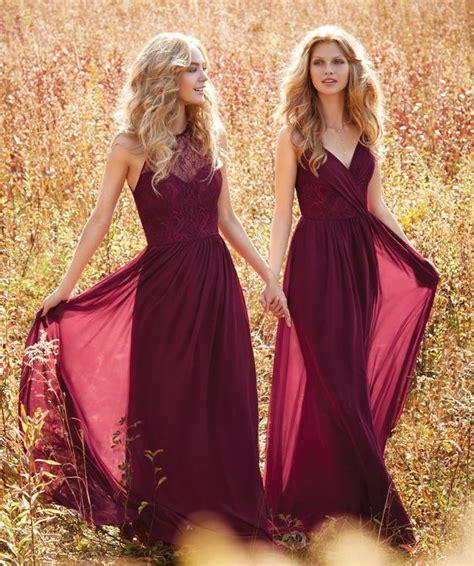 Robe Longue Bordeaux Demoiselle D Honneur - op654123 delight