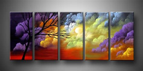 Art Painting For Home Decoration 5 Peice Landscape Oil Painting 100 Handmade Oil Painting