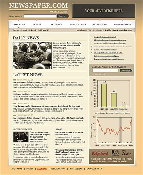 Newspaper Html Website Template Best Website Templates News Html Template