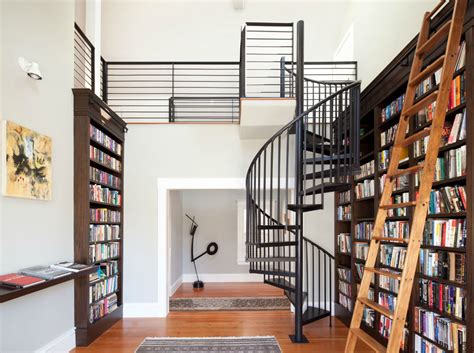 cool home libraries best fresh cool modern diy library ladder design used 7351
