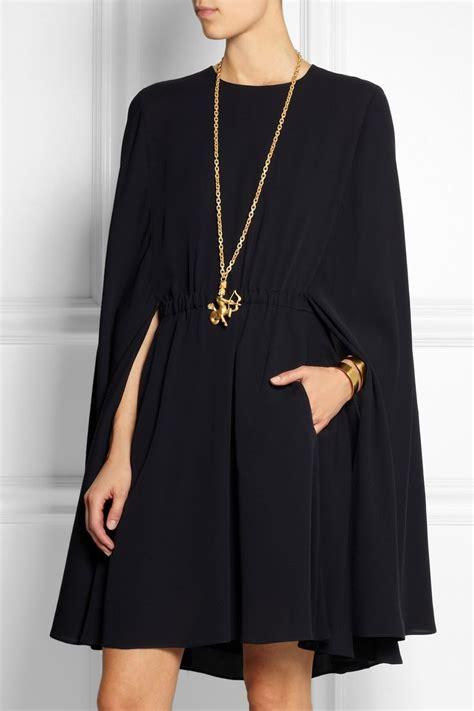 cape styles cape style silk crepe mini dress
