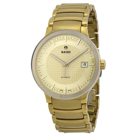 rado centrix automatic gold yellow gold plated s
