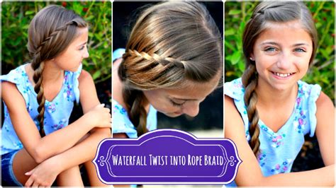 mormon hairstyles waterfall twist rope braid by cute girls hairstyles lds net