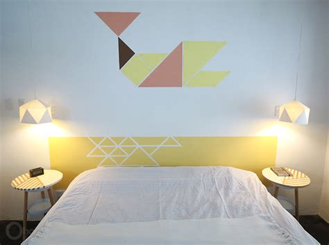 headboard painted on wall cool ways to build and customize a diy headboard