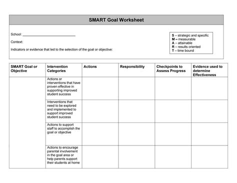 48 smart goals templates exles worksheets free