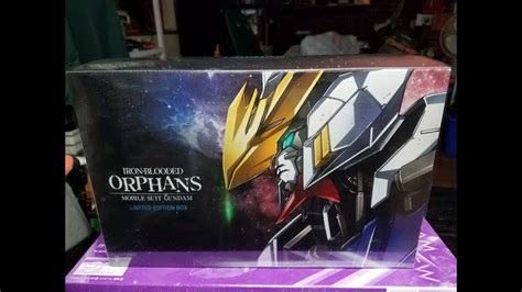 iron blooded orphans limited edition blu ray unboxing