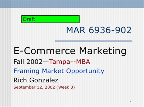 Opportunity For Mba In Marketing by Framing Market Opportunity