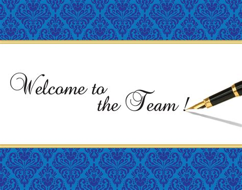 Welcome To The Team Card Template by Free Clipart Welcome To The Team Clipartxtras