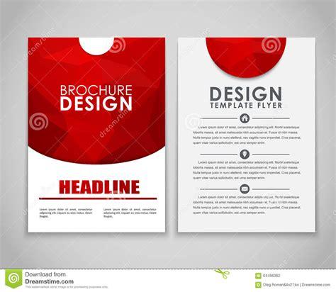 design flyers and brochures design flyers and brochures polygonal stock vector