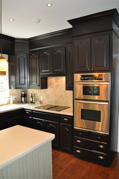 Kitchen With Black Cabinets | one color fits most black kitchen cabinets