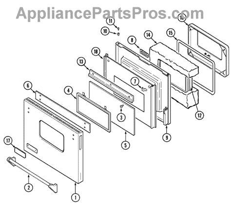 jenn air oven parts diagram parts for jenn air svd8310s door parts