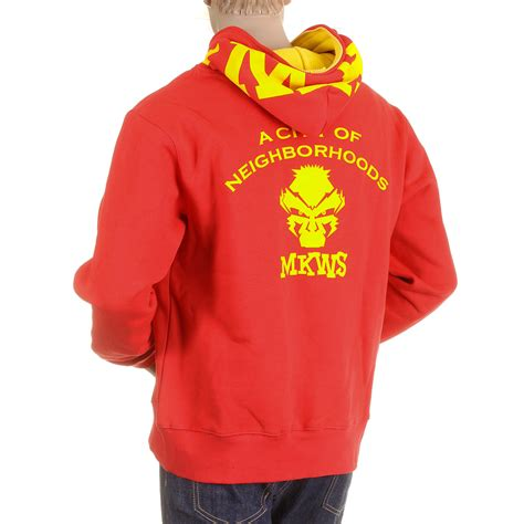 Hoodie Flock Martin Garry rmc zipped sweatshirt with yellow flock print