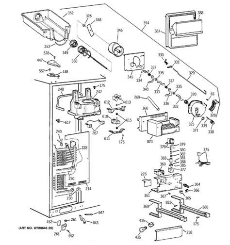 3 door ge profile refrigerator wiring diagram wiring
