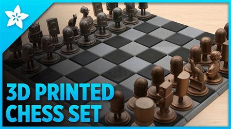 adafruit  printed metal chess set youtube