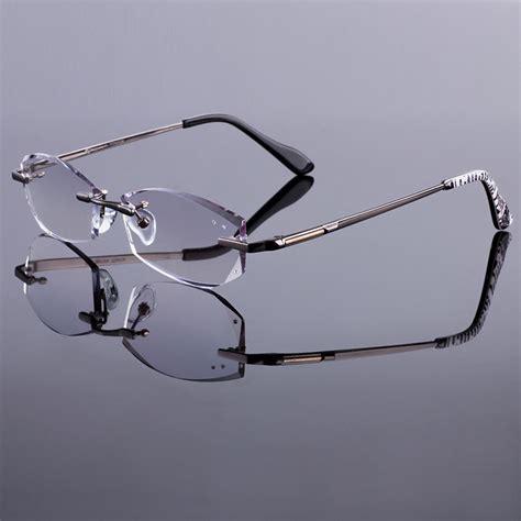 new mens alloy eyeglass frames new phantom men rimless frames women titanium alloy