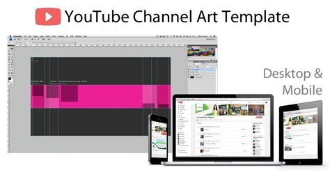 home design youtube channels youtube channel art photoshop template image size 2560 x