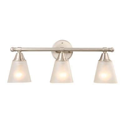 hton bay 4 light brushed nickel wall vanity light cbx1394 2 sc 1 the home depot bathroom vanity lights hton bay 3 light brushed nickel vanity gjk1393a 4 bn the home depot