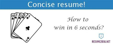 Resume 6 Second Rule by 6 Resume 2016 You Should Follow