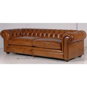 Vintage Leather Chesterfield Sofa Vintage Leather Chesterfield Sofa Traditional Upholstered Furniture 163 2 630 00
