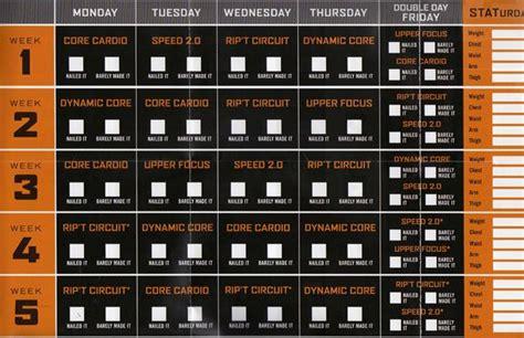 T25 Workout Calendar T25 Beta Workout Schedule Be Healthy