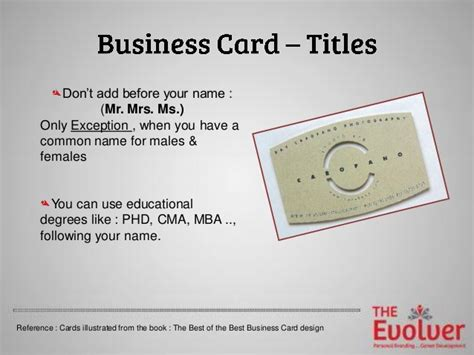 How To Use Mba On Business Card by Business Card Etiquette Phd Gallery Card Design And Card
