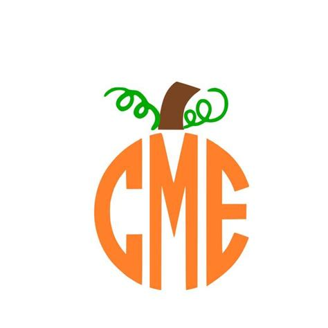 monogram pumpkin templates pumpkin stem monogram svg instant design for cricut