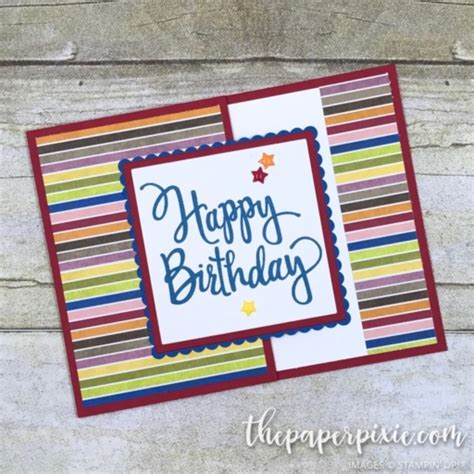 Fancy Gift Card - fancy fold gift card holder with video tutorial the paper pixie