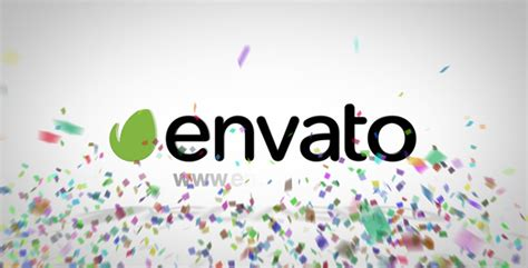 Confetti Logo Reveal After Effects Template Videohive 7122112 After Effects Project Files After Effects Confetti Template