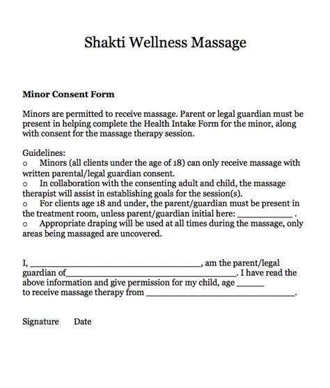 intake forms shakti wellness massage