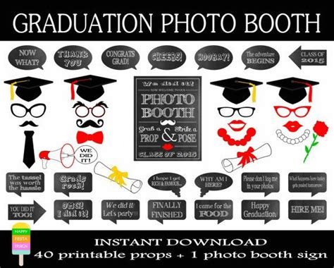 printable photo booth quotes 58 best images about graduation 2016 on pinterest