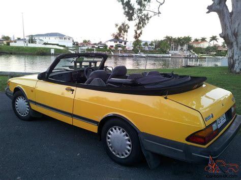 saab 900i ed monte carlo yellow convertible 1993 in nerang