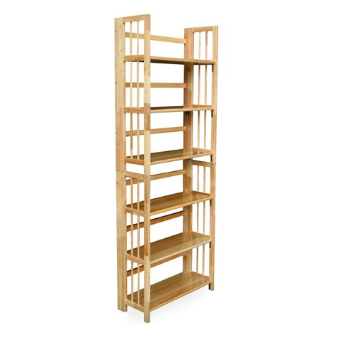 3 tier stackable folding bookcase bookcases at hayneedle