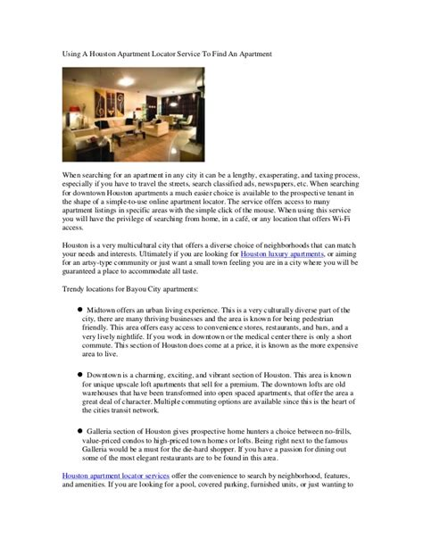 Apartment Locator Services Houston Using A Houston Apartment Locator Service To Find An Apartment