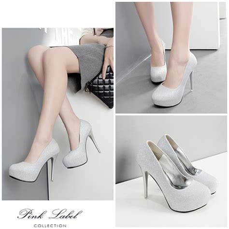 Sepatu Wanita Heel 12cm jual shh9821 silver sepatu heels 12cm grosirimpor