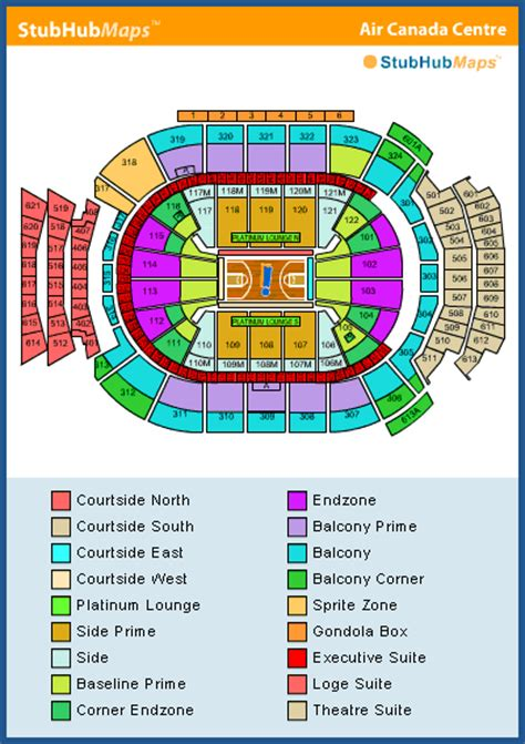 air canada centre floor plan air canada centre seating chart pictures directions and