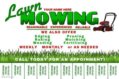 mowing flyer template lawn mowing flyer template images